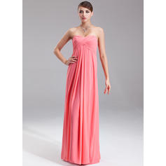 Empire Sweetheart Floor-Length Evening Dresses With Ruffle (017002551)