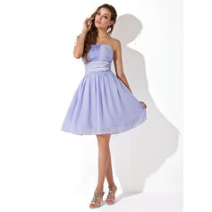 white puffy homecoming dresses