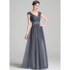A-Line/Princess Sweetheart Floor-Length Mother of the Bride Dresses With Ruffle Beading Appliques Lace Sequins
