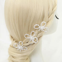 """Hairpins Wedding/Special Occasion/Party Alloy/Imitation Pearls 3.54""""(Approx.9cm) 2.24""""(Approx.5.7cm) Headpieces"""