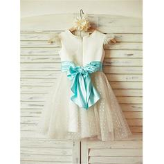 blue and white flower girl dresses