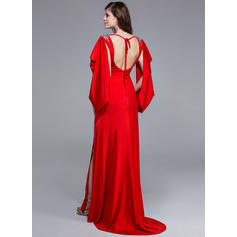 white and gold prom dresses 2019