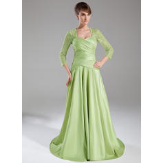 A-Line/Princess Sweetheart Sweep Train Mother of the Bride Dresses With Ruffle (008005950)