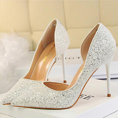 Women's Closed Toe Pumps Stiletto Heel Sparkling Glitter With Others Wedding Shoes