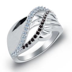 Rings Zircon/Platinum Plated Ladies' Pretty Wedding & Party Jewelry