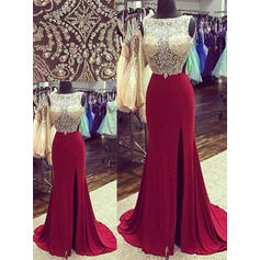 red puffy prom dresses long