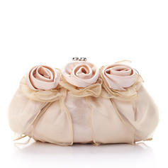 Clutches Ceremony & Party Silk/Tulle Kiss lock closure Gorgeous Clutches & Evening Bags