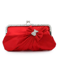 Clutches Ceremony & Party Silk Kiss lock closure Charming Clutches & Evening Bags