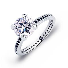 Rings Copper/Zircon/Platinum Plated Ladies' Classic Wedding & Party Jewelry