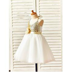 lace beaded flower girl dresses