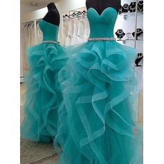 Ball-Gown Sweetheart Floor-Length Prom Dresses With Beading (018210294)