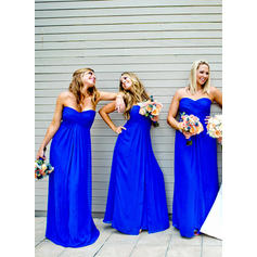 A-Line/Princess Sweetheart Floor-Length Bridesmaid Dresses With Ruffle
