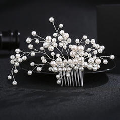 "Combs & Barrettes Wedding Freshwater Pearl 5.12""(Approx.13cm) 3.55""(Approx.9cm) Headpieces"