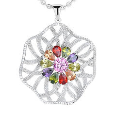 "Necklaces Zircon/Platinum Plated Ladies' Charming 19.69""(Approx.50cm) Wedding & Party Jewelry"