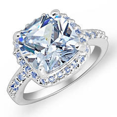 Rings Zircon/Platinum Plated Ladies' Gorgeous Wedding & Party Jewelry