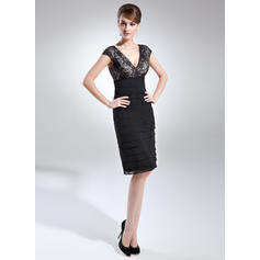 womens cocktail dresses with sleeves navy blue