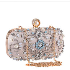 "Clutches/Satchel Wedding/Ceremony & Party Crystal/ Rhinestone/PU/Imitation Pearl Gorgeous 7.48""(Approx.19cm) Clutches & Evening Bags"