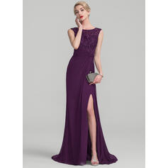 evening dresses with net sleeves