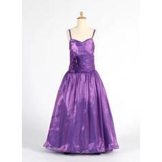 A-Line/Princess Sweetheart Floor-length With Ruffles/Flower(s) Organza Flower Girl Dresses (010014612)