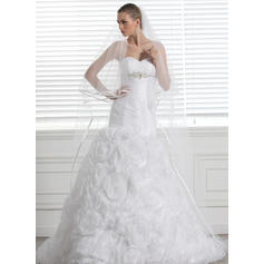 Cathedral Bridal Veils Tulle Two-tier Oval/Drop Veil With Ribbon Edge Wedding Veils
