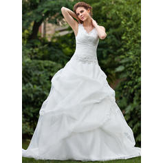 Ball-Gown Sweetheart Cathedral Train Wedding Dresses With Ruffle Lace Beading (002001220)