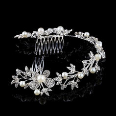 "Combs & Barrettes Wedding Rhinestone/Alloy/Imitation Pearls 11.02""(Approx.28cm) 2.36""(Approx.6cm) Headpieces"
