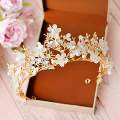 """Tiaras Wedding/Special Occasion/Party Crystal/Rhinestone/Alloy/Imitation Pearls 2.56""""(Approx.6.5cm) 5.51""""(Approx.14cm) Headpieces"""