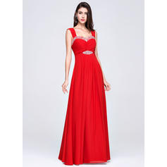 Empire Sweetheart Floor-Length Evening Dresses With Ruffle Beading (017017358)