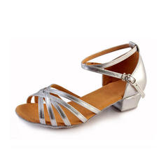 Women's Latin Heels Leatherette With Buckle Dance Shoes