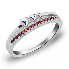 Rings Copper/Zircon/Platinum Plated Ladies' Romantic Wedding & Party Jewelry