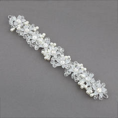 """Headbands Wedding/Special Occasion/Party Crystal/Imitation Pearls/Plastic 10.04""""(Approx.25.5cm) 1.57""""(Approx.4cm) Headpieces"""