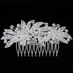 "Combs & Barrettes Wedding/Special Occasion/Casual/Outdoor/Party Alloy 3.94""(Approx.10cm) 2.09""(Approx.5.3cm) Headpieces"