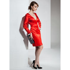 tiered cocktail dresses with sleeves