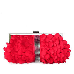 Clutches Wedding/Ceremony & Party Silk Clip Closure Lovely Clutches & Evening Bags