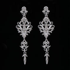 Earrings Alloy/Rhinestones Rhinestone Pierced Ladies' Wedding & Party Jewelry