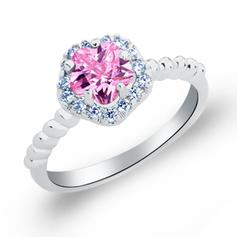 Rings Copper/Zircon/Platinum Plated Ladies' Flower Shaped Wedding & Party Jewelry