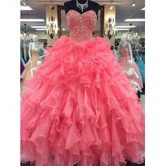 Ball-Gown Sweetheart Floor-Length Prom Dresses With Beading (018210383)