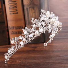 "Tiaras Wedding/Special Occasion Rhinestone/Alloy/Imitation Pearls 12.60""(Approx.32cm) 2.36""(Approx.6cm) Headpieces"
