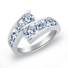 Rings Copper/Zircon/Platinum Plated Ladies' Gorgeous Wedding & Party Jewelry