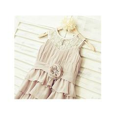 cheap flower girl dresses with train