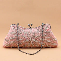 Clutches Wedding/Ceremony & Party Beading Kiss lock closure Refined Clutches & Evening Bags