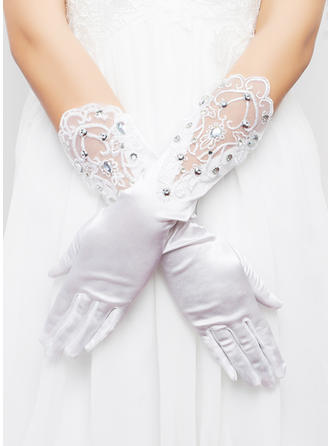 Elastic Satin Ladies' Gloves Elbow Length Bridal Gloves Cotton Gloves