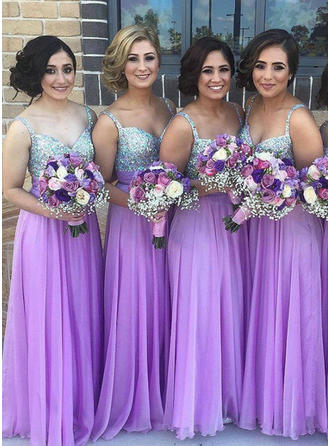 A-Line/Princess Sweetheart Floor-Length Bridesmaid Dresses