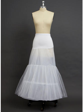 Petticoats Floor-length Tulle Netting/Polyester/Spandex A-Line Slip 2 Tiers Petticoats