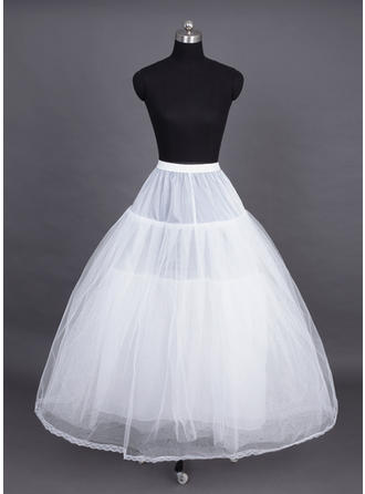 Petticoats Tea-length Nylon/Tulle Netting Ball Gown Slip 4 Tiers Petticoats