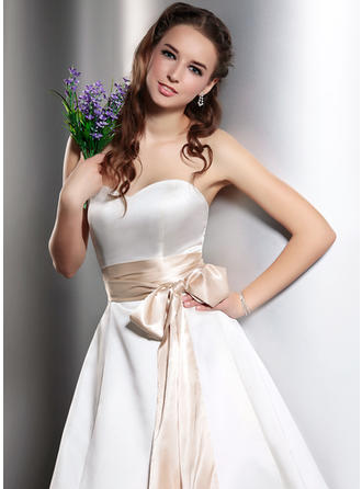Women Charmeuse With Bow Sash Simple Sashes & Belts