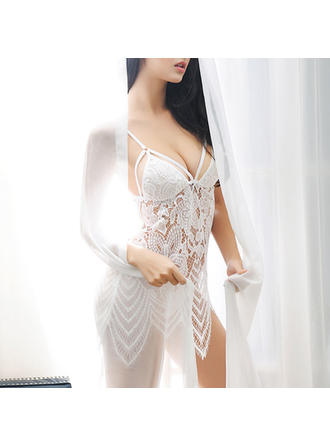 Lingerie Set Wedding/Special Occasion Feminine Lace Sexy Lingerie