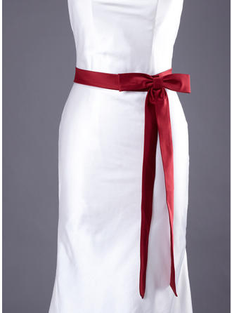 Women Satin With Bow Sash Simple Sashes & Belts