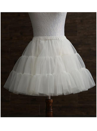 Jupons Tissu tulle/Taffeta Combinaison a-ligne 2 couches Mariage Jupons