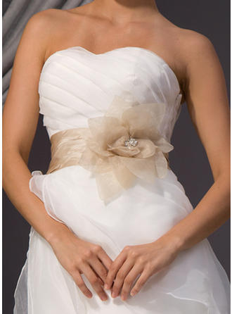 Women Taffeta/Organza With Beading/Flower Sash Elegant Sashes & Belts